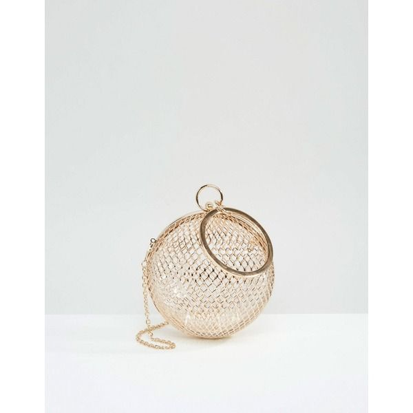 ASOS - Cage Sphere - Clutch - Gold