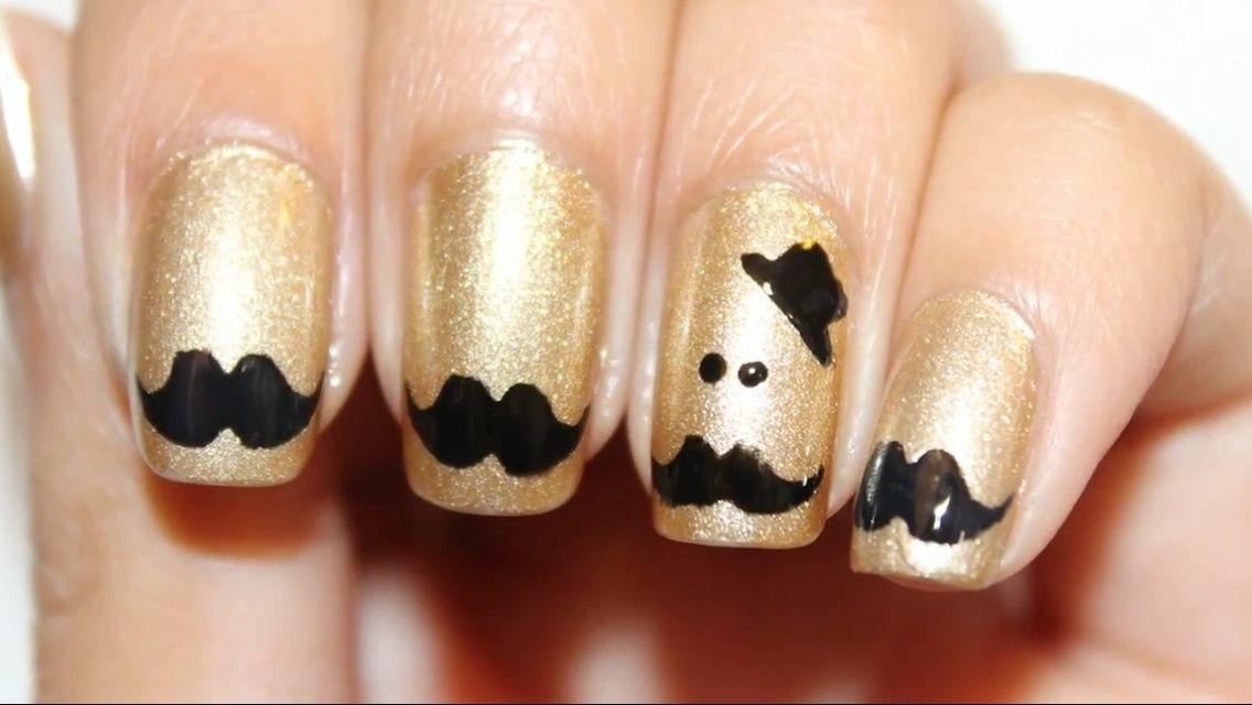 mustache nails!