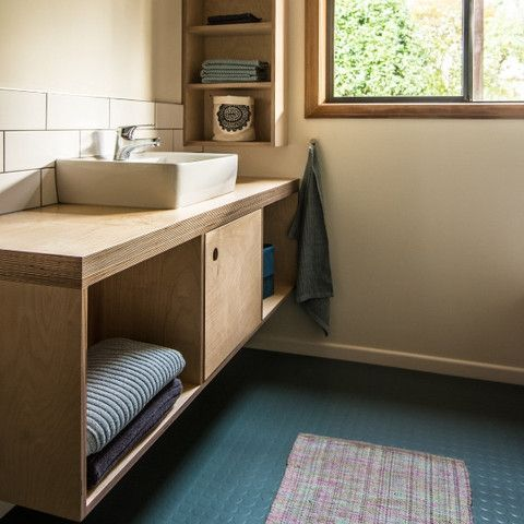 Photo of Open Plywood vanity