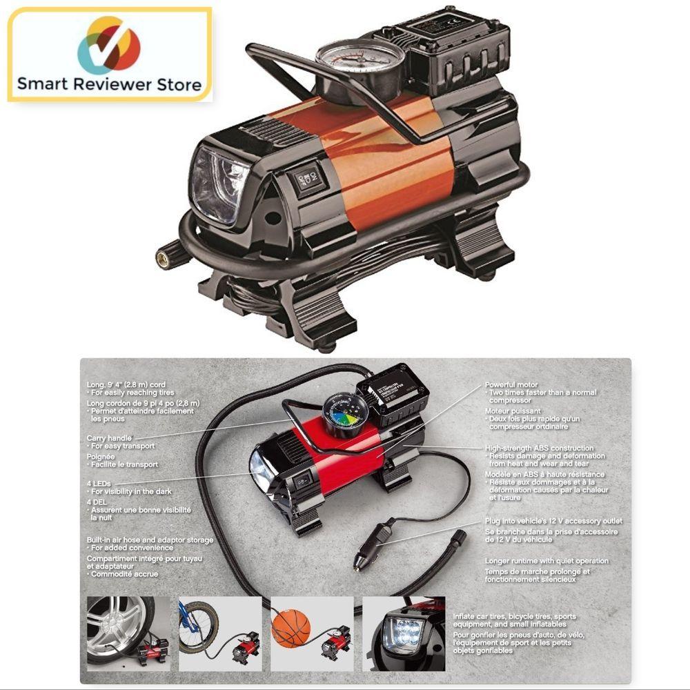 Air Compressor Pump 12v Car Portable Heavy Duty Auto Tire