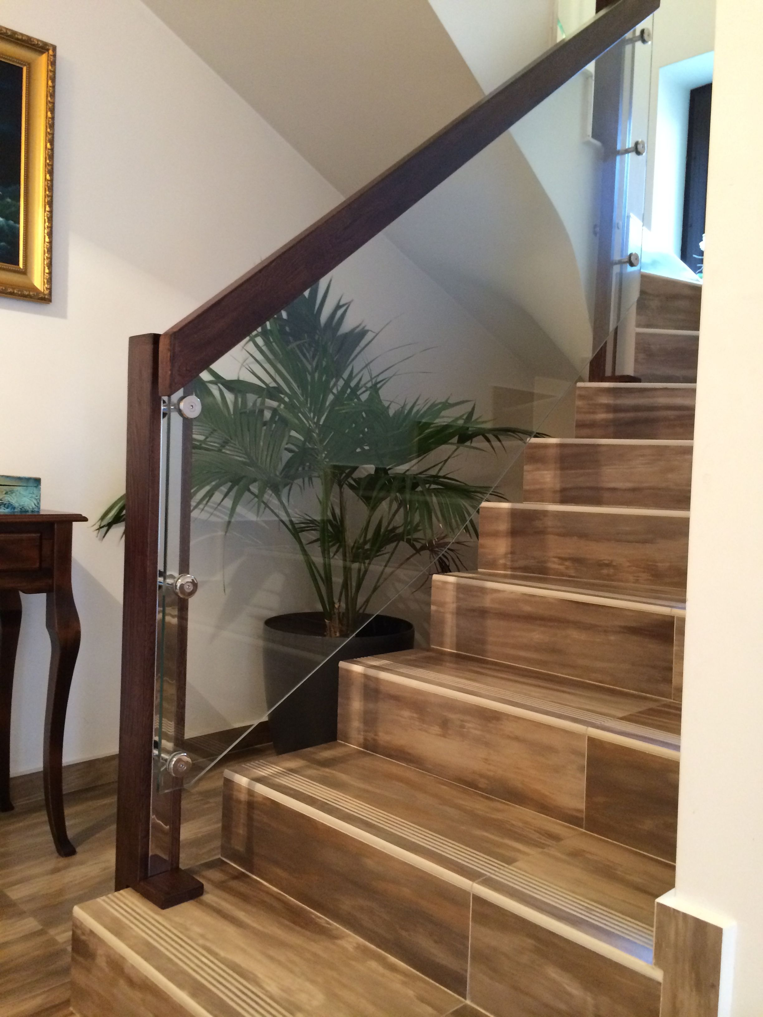 Best Safety Glass Wood Handrail In 2019 Wood Handrail Home 400 x 300