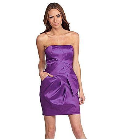 Purple Strapless (pockets)