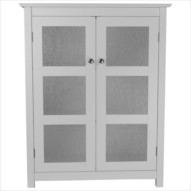 Elegant Home Fashions Connor 2 Door Floor Cabinet In White Elg 580 Glass Cabinet Doors Double Glass Doors House Styles