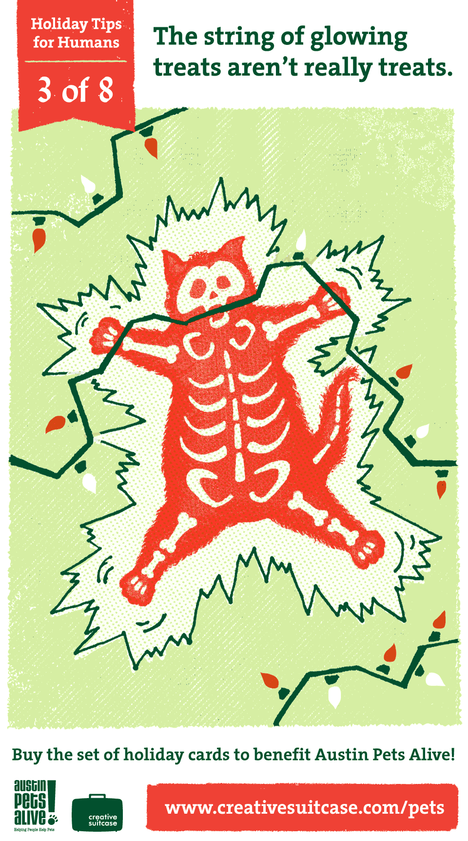 Holiday Tips For Humans 3 The String Of Glowing Treats Arent Really