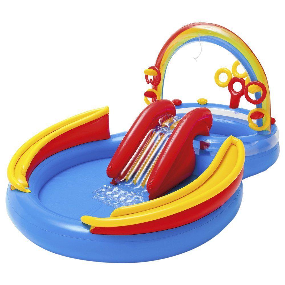 intex rainbow ring inflatable play center gift ideas pinterest