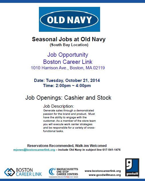 Seasonal Jobs Boston, MA Seasonal Jobs Boston, MA Pinterest - stock job description