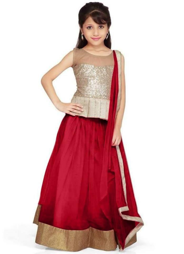e65995ca3 Indian Designer Lehenga Pattern for Little Girls 2015 (4)