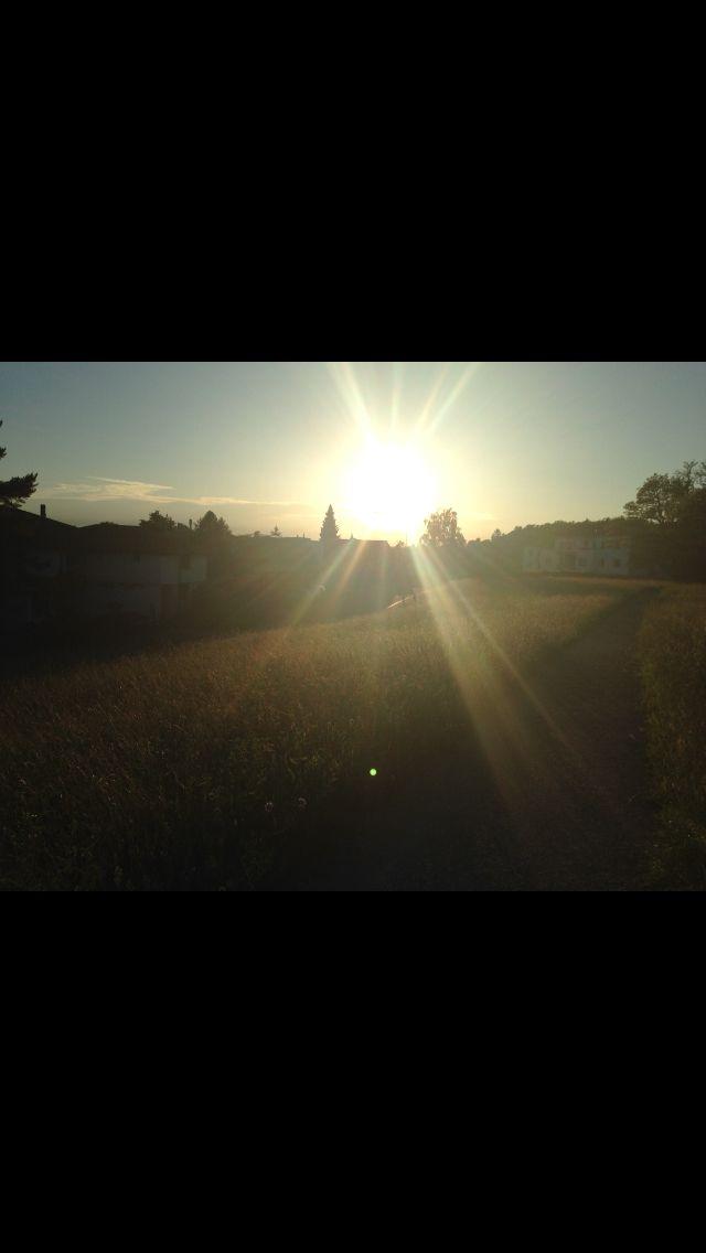 Die letzten Sonnenstrahlen geniessen