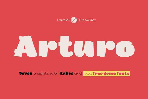 Arturo - 70% OFF! by Zetafonts on @creativemarket