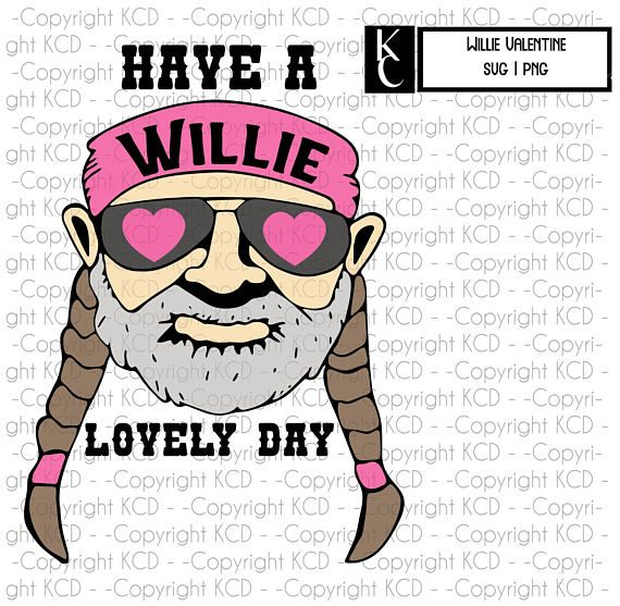 Willie Nelson Svg Valentines Day Layered Cut File Shirt