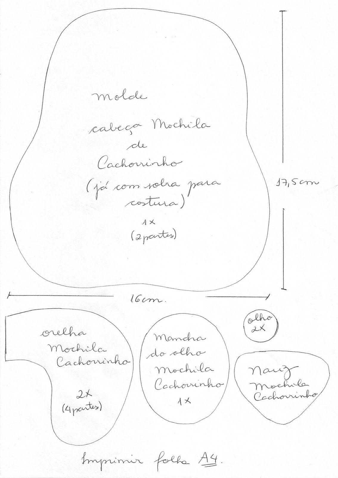 Segredos de Aline: Mochila Infantil Patchwork - Cachorrinho - Bolsa ...