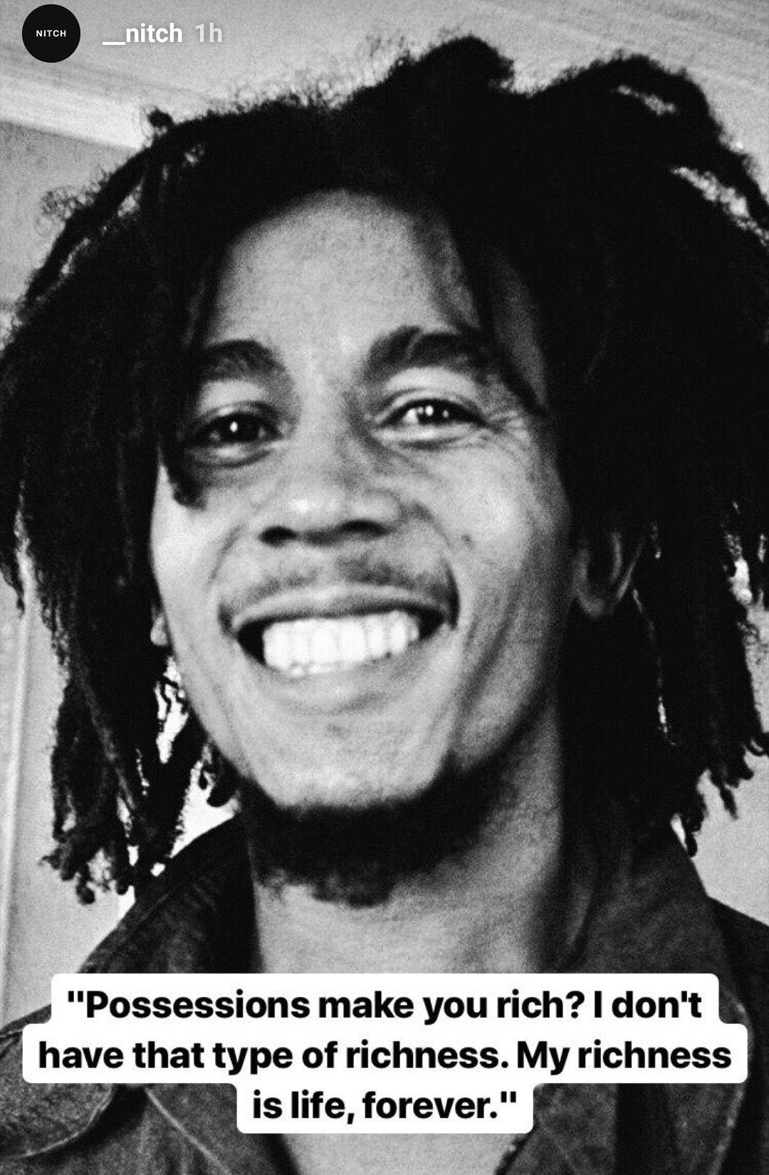 Bob Marley Life quotes, Inspirational words, Bob marley