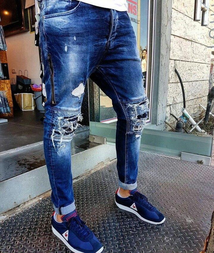 Resultado De Imagen Para Dogui Jeans Ripped Jeans Men White Jeans Men Mens Pants Fashion