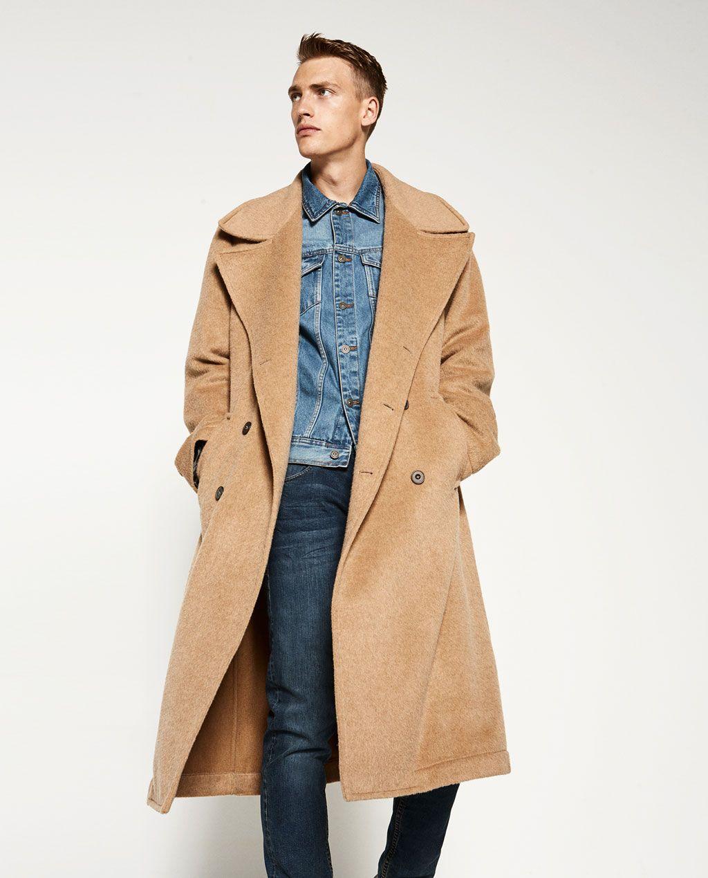 OVERSIZE MANTEL in 2019 | Herren mantel, Männer outfit und