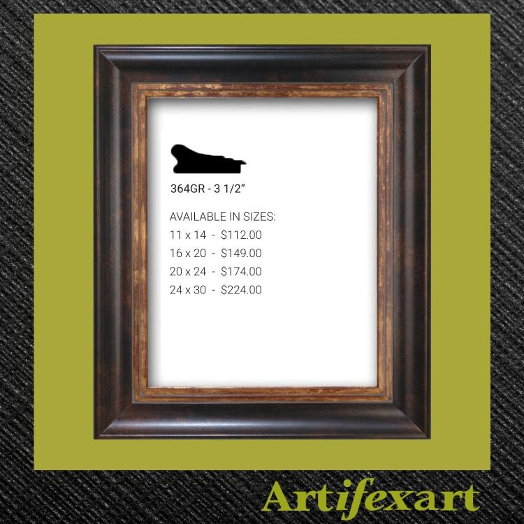 3 1 2 Wide Wood Frame Bronze And Gold Finish The Gold Lip Ads A Nice Highlight To Your Art Or Photo Transitional Style Fram Traditional Frames Frame Bronze