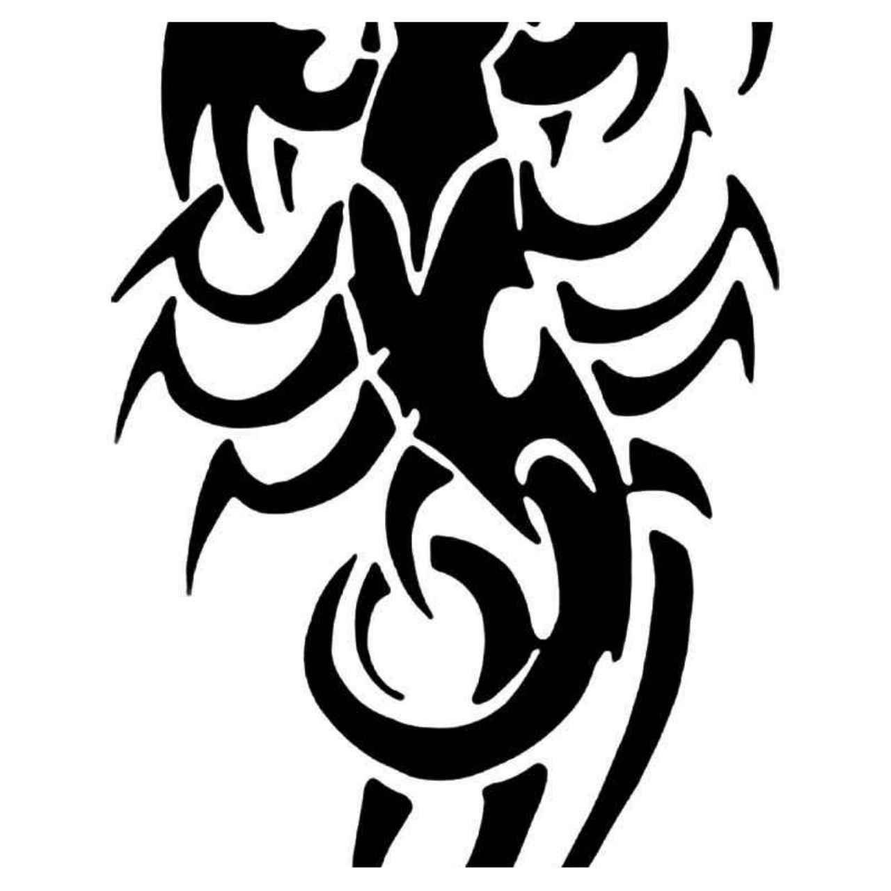 Tribal Scorpion Vinyl Sticker// Decal