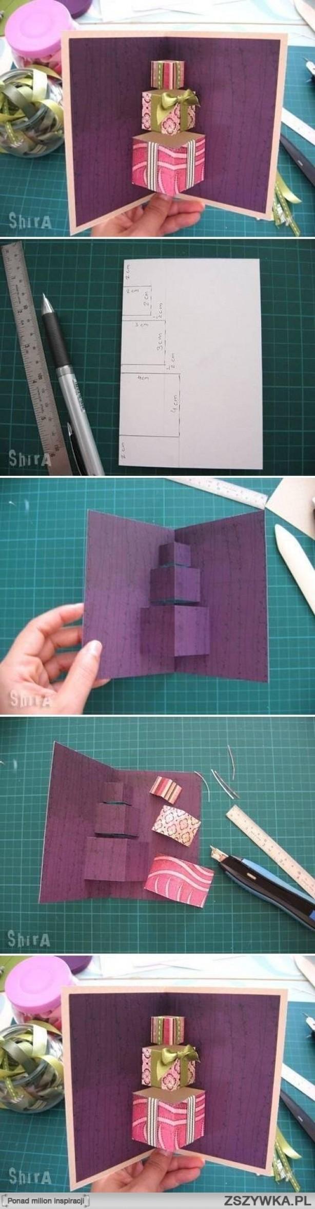Leuk idee om zelf een popup wenskaart te maken zelf kaarten