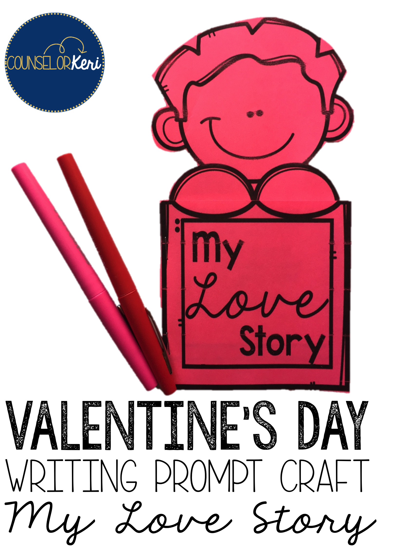 Valentine S Day Writing Prompt Craft Activity For