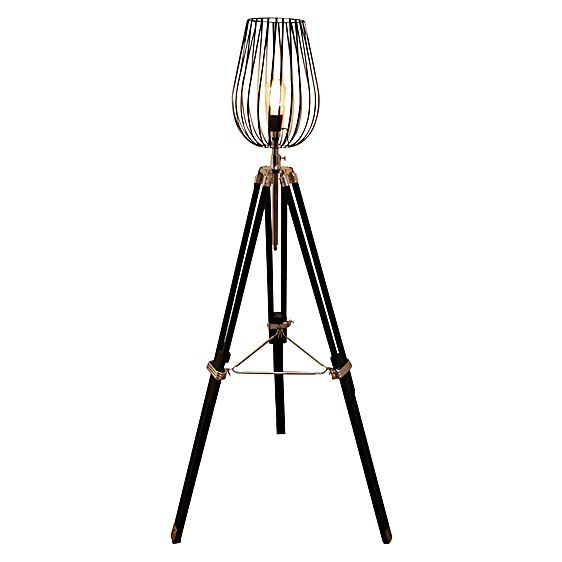 Wire Cage Tripod Floor Lamp by Fat Shack Vintage
