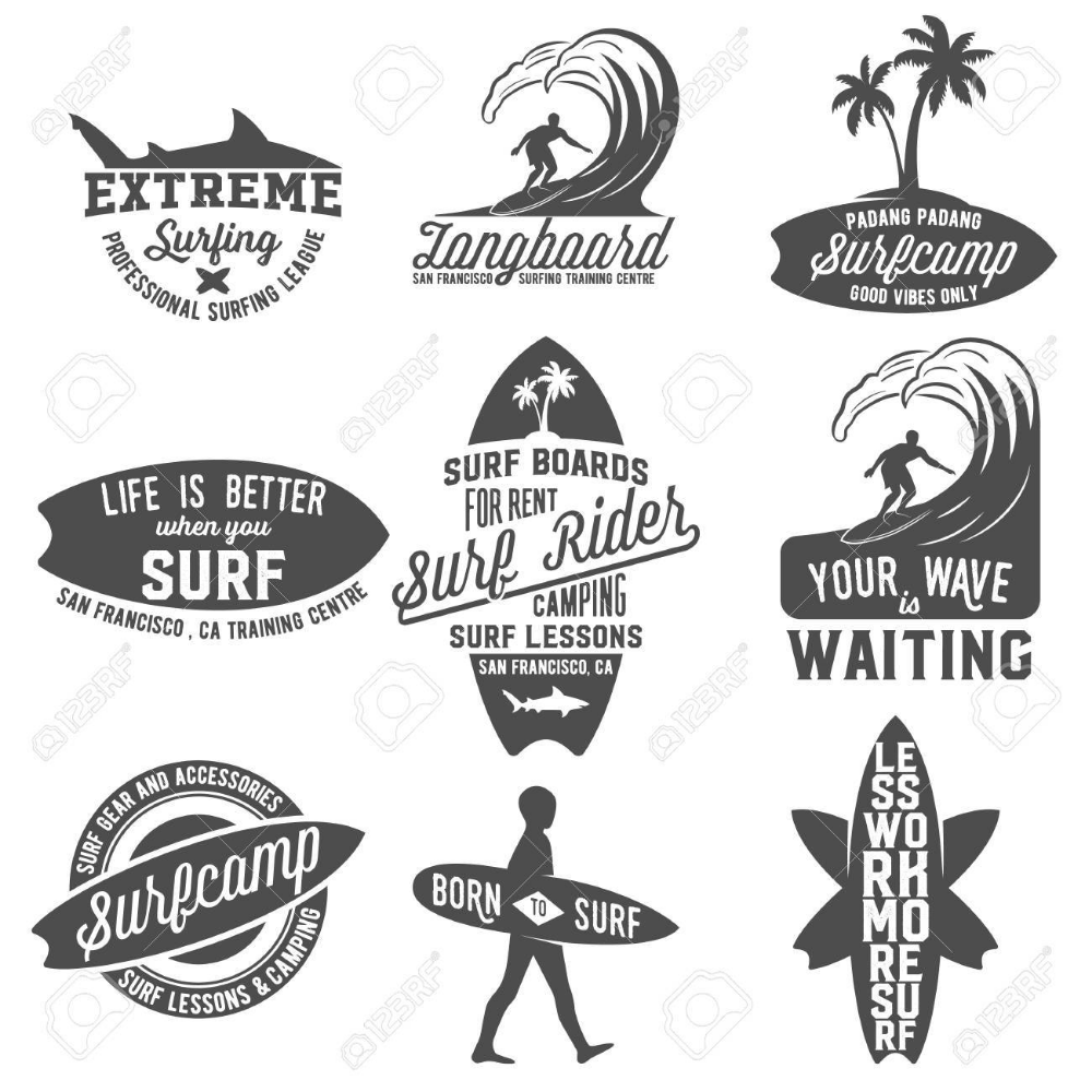 surf logo vector Pesquisa Google【2020】 サーフアート, ロゴデザイン