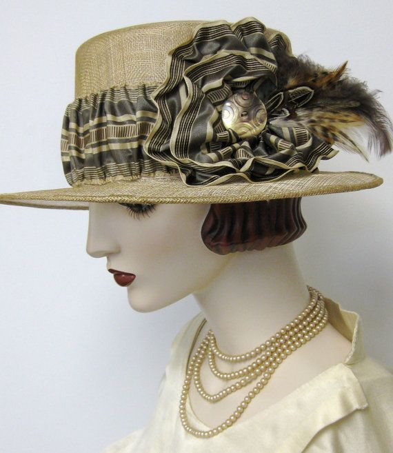15 Of The Craziest Glamorous Hats: Edwardian Inspired Boater In 2020