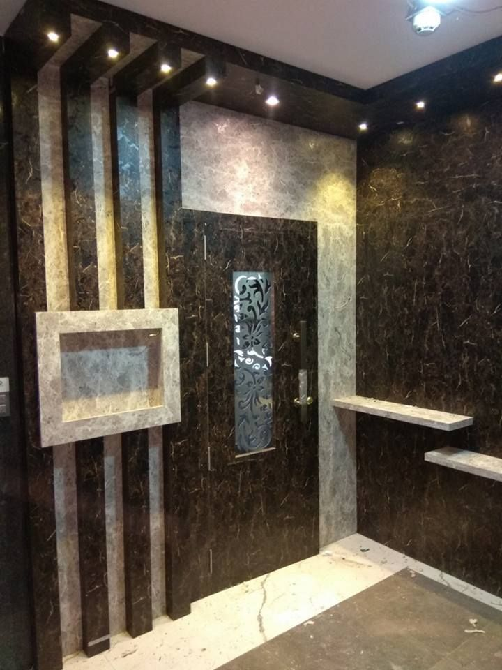 Exciting Modern Front Doors Ideas For Modern Home Design Recessed Lighting And Modern Front: Main Door Interior Modern Style Doors By Kumar Interior Thane Modern