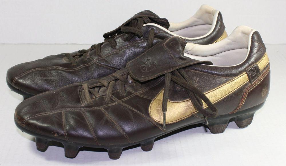 50e680aa5b4 Nike Ronaldinho R10 Tiempo Guri FG Soccer SHOES 2007 Dark Cinder Sz 13  Cleats  Nike