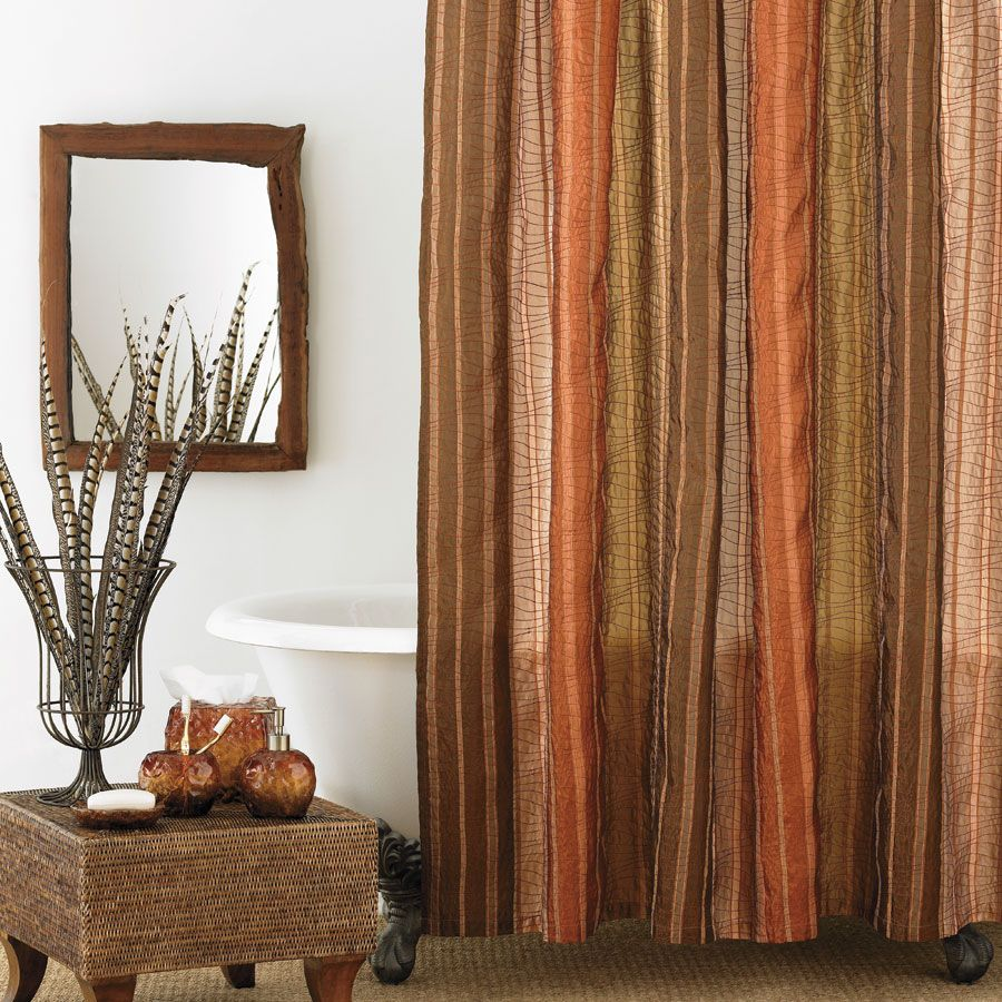 brown and orange shower curtain. Manor Hill Sierra Copper Shower Curtain 39 99  For The Home