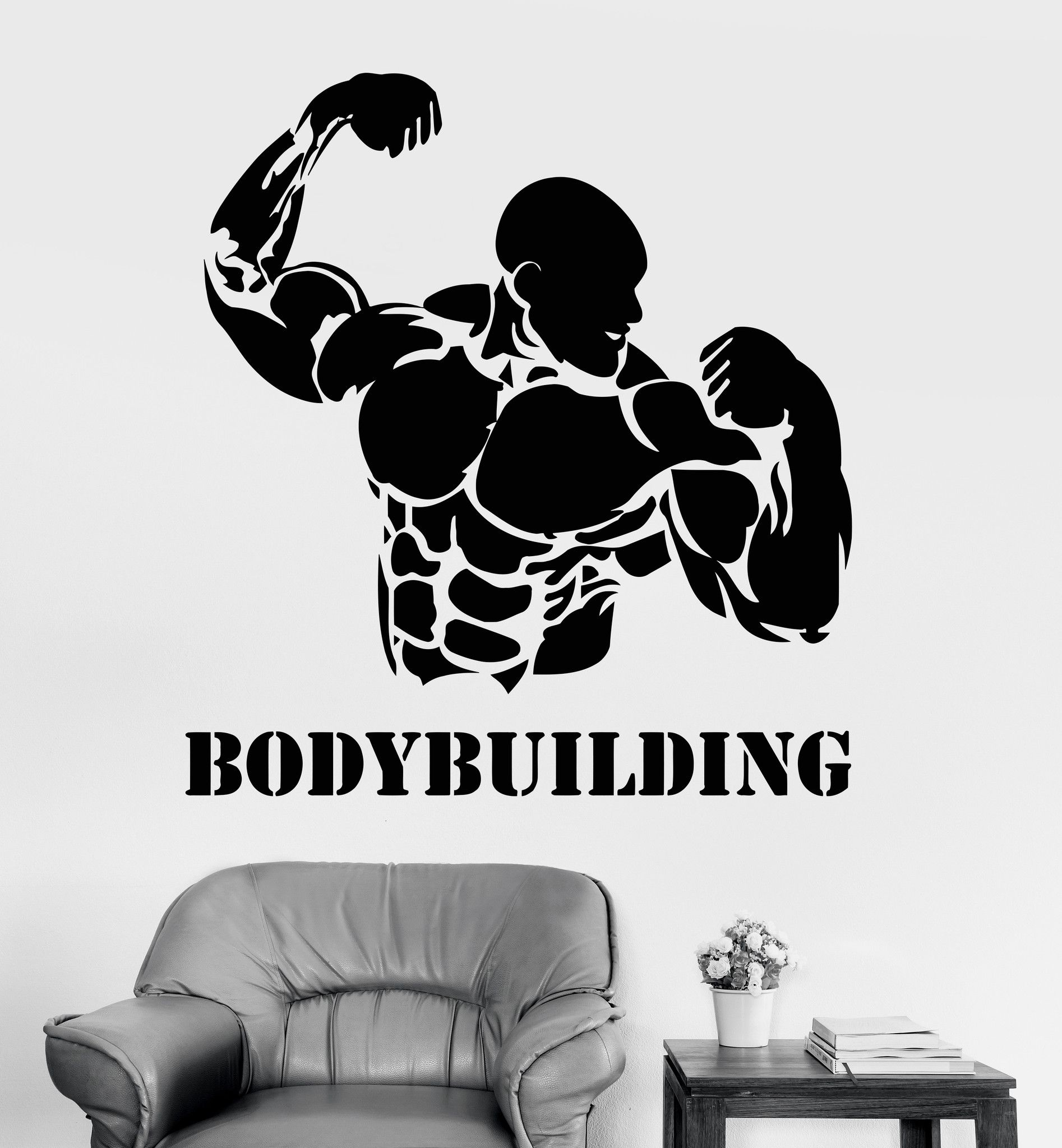 Vinyl Wall Decal Bodybuilding Fitness Gym Iron Sport Stickers (ig3564) Part 50