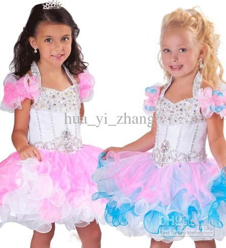 Wholesale 2013 Mini Colorful Ball Gowns Cupcake B207 Little Girl Organza Pageant Ruffled Tiered Dresses HW121, Free shipping, $85.12-89.6/Piece | DHgate