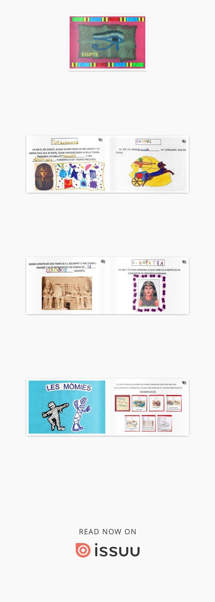 EGIPTE  Projecte de treball realitzat el curs 2010/11 amb un grup d´educació infantil (4 anys) del CEIP Sant Joan de Ribera de Burjassot (València).