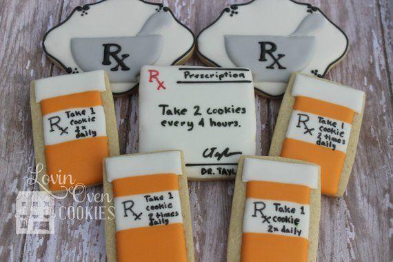 59924995f7b Pharmacy Decorated Sugar Cookies - Pharmacist / Prescription / Pill bottle