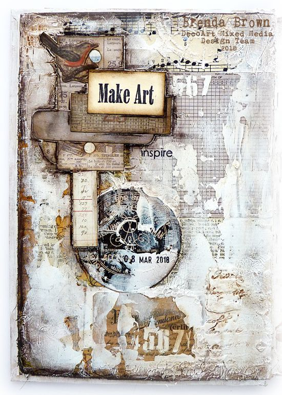 Mixed media Collage Journalling for DecoArt #artjournalmixedmediainspiration