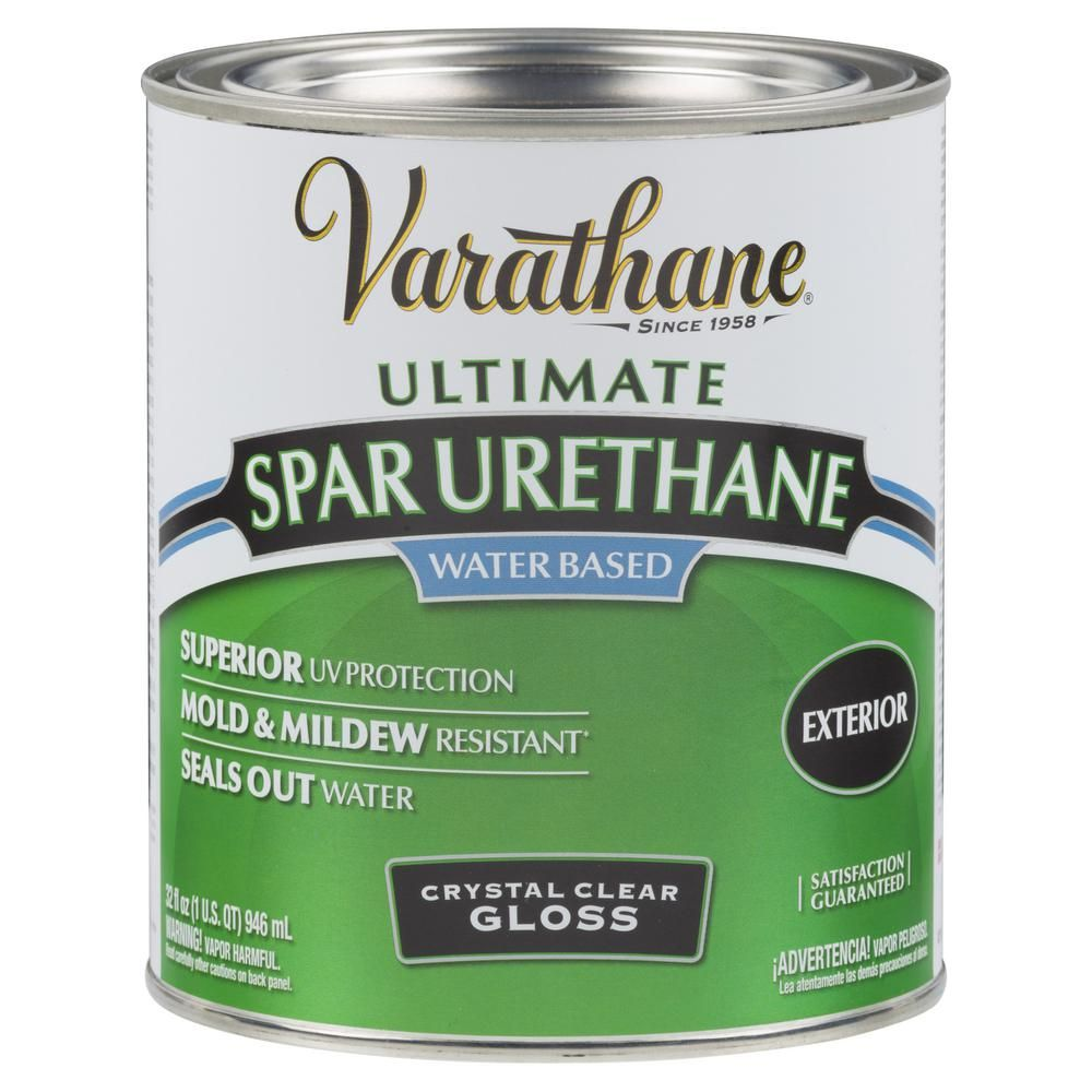 Varathane 1 Qt Clear Gloss Water Based Exterior Spar Urethane 2 Pack 250041h Exterior Outdoor Wood Projects Outdoor