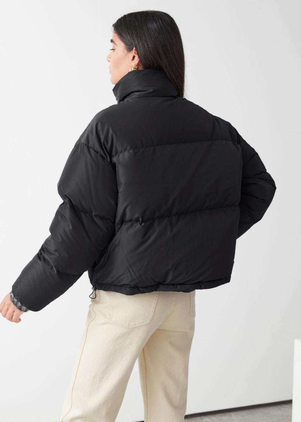 Short Oversized Puffer Jacket Puffer Jacket Women Winter Jacket Outfits North Face Puffer Jacket [ 1400 x 1000 Pixel ]