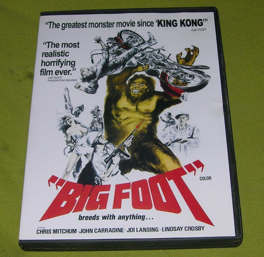BIGFOOT DVD HORROR HORRIFYING FILM BREEDS WITH ANYTHING CLASSIC DRIVE IN