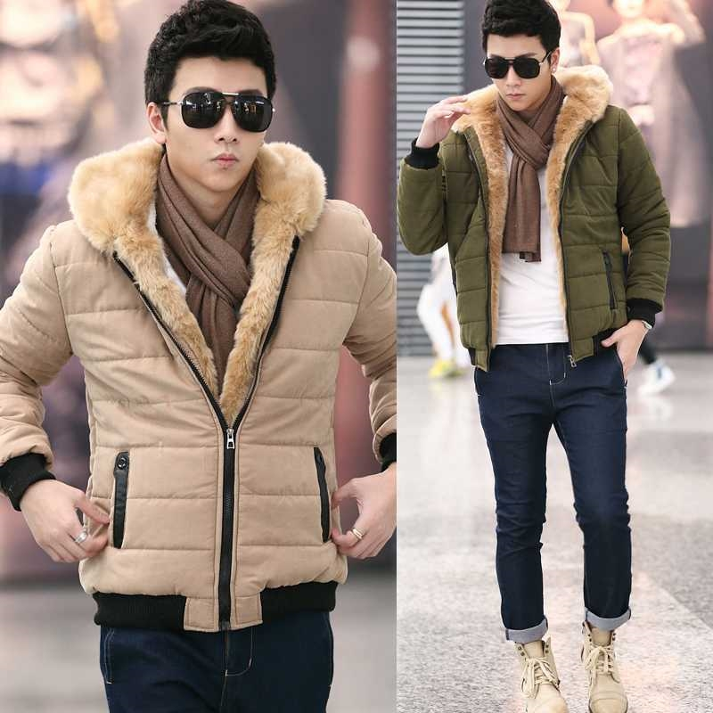 49.75$  Watch now - http://alic2j.worldwells.pw/go.php?t=32450760207 - 2015 New Mens Winter Jacket Men's Wadded Coats Outerwear Male Slim Casual Cotton Outdoors Outwear Jackets Size S-XXL H4586 49.75$