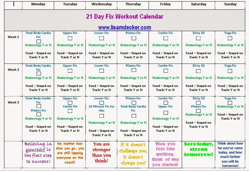 21 day fix tracking sheet, 21 day fix workouts Fitness Motivation