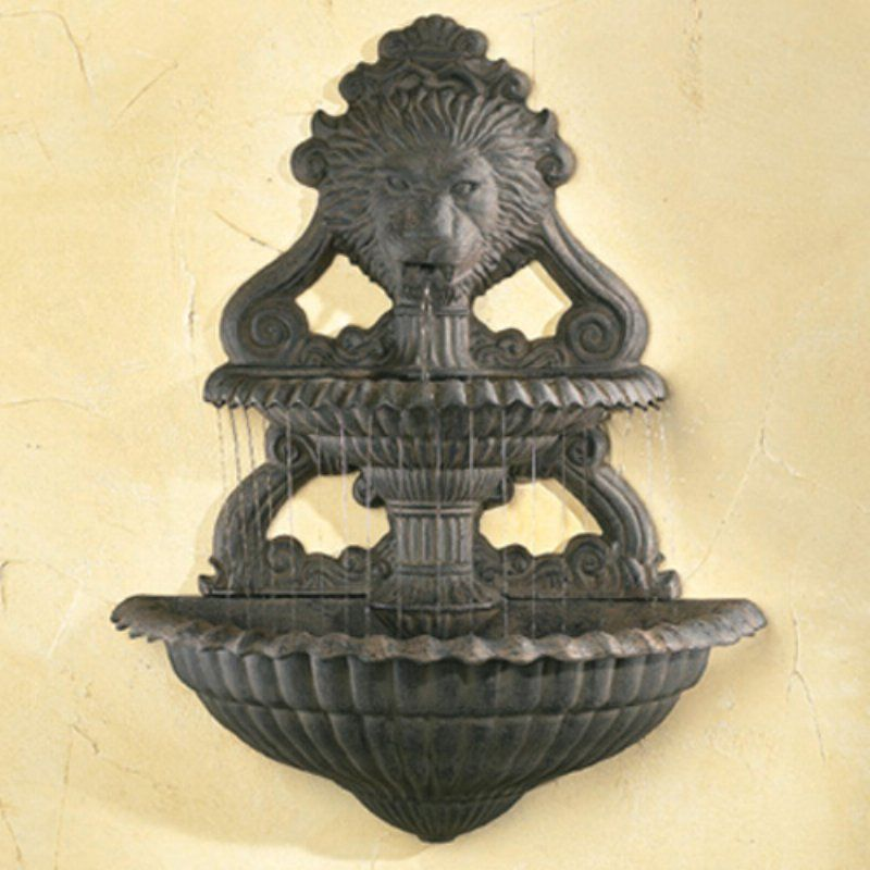 Lion Art Wall Outdoor Fountain - 88058 #OutdoorFountains | Outdoor ...