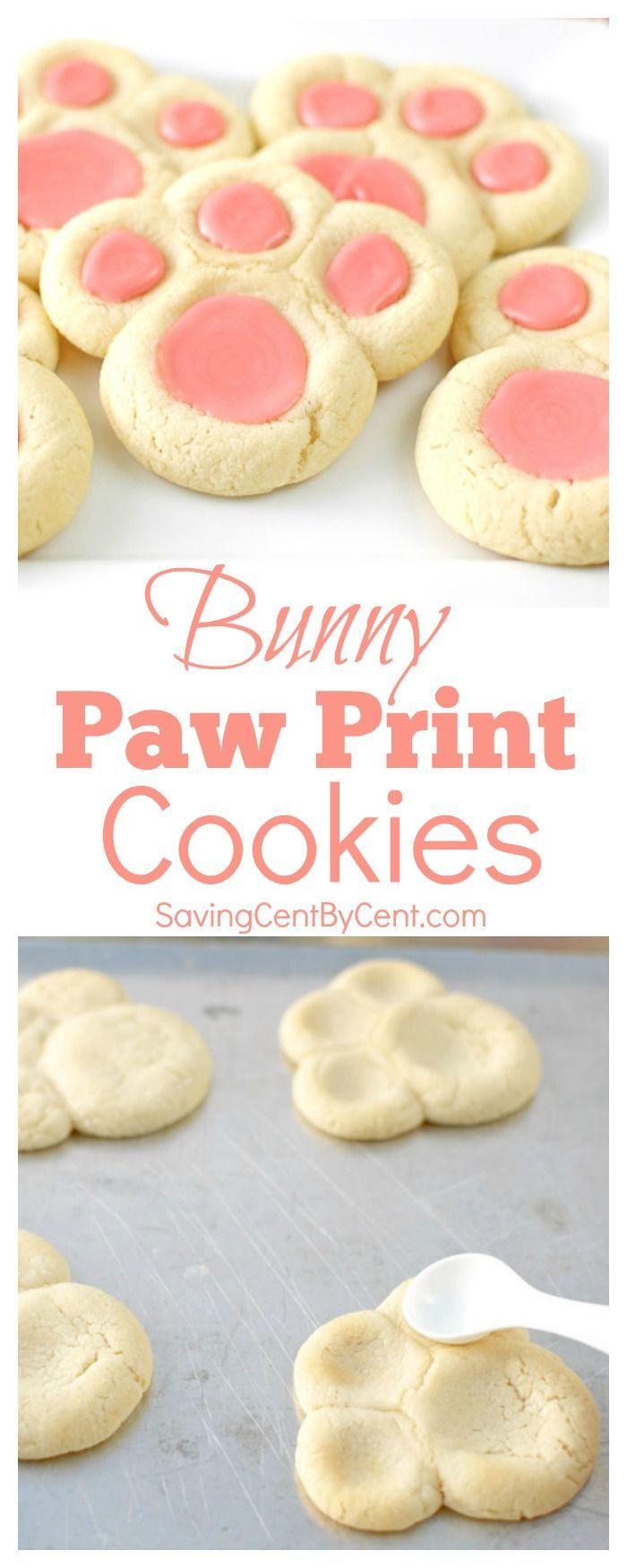 Photo of Bunny Paw Print Cookies