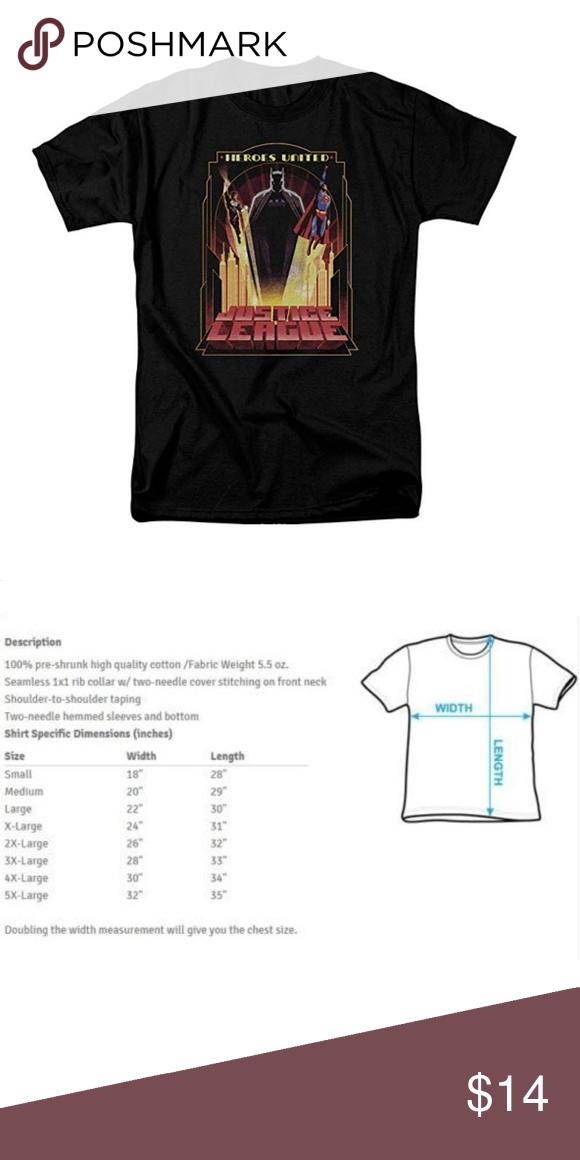 Jla Heroes United Premium Adult Slim Fit T-Shirt