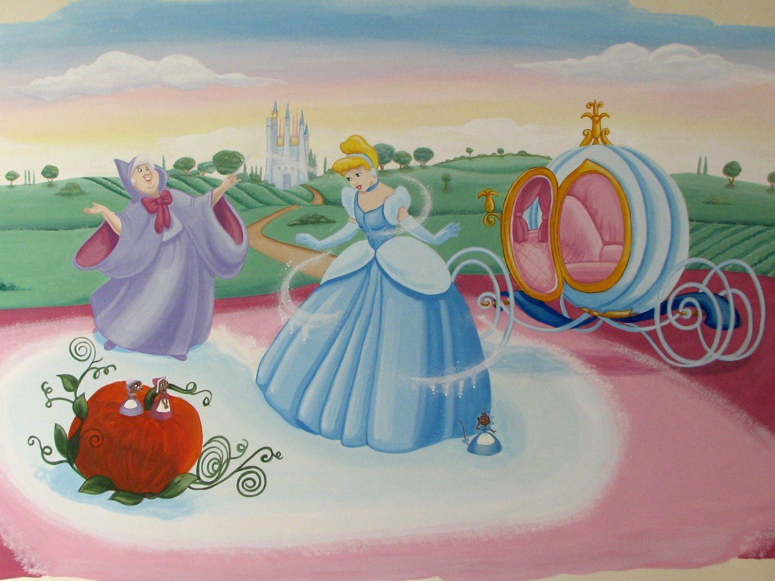 Dipinti Murali Per Camerette cenerentola. dipinto murale per la cameretta dei bambini
