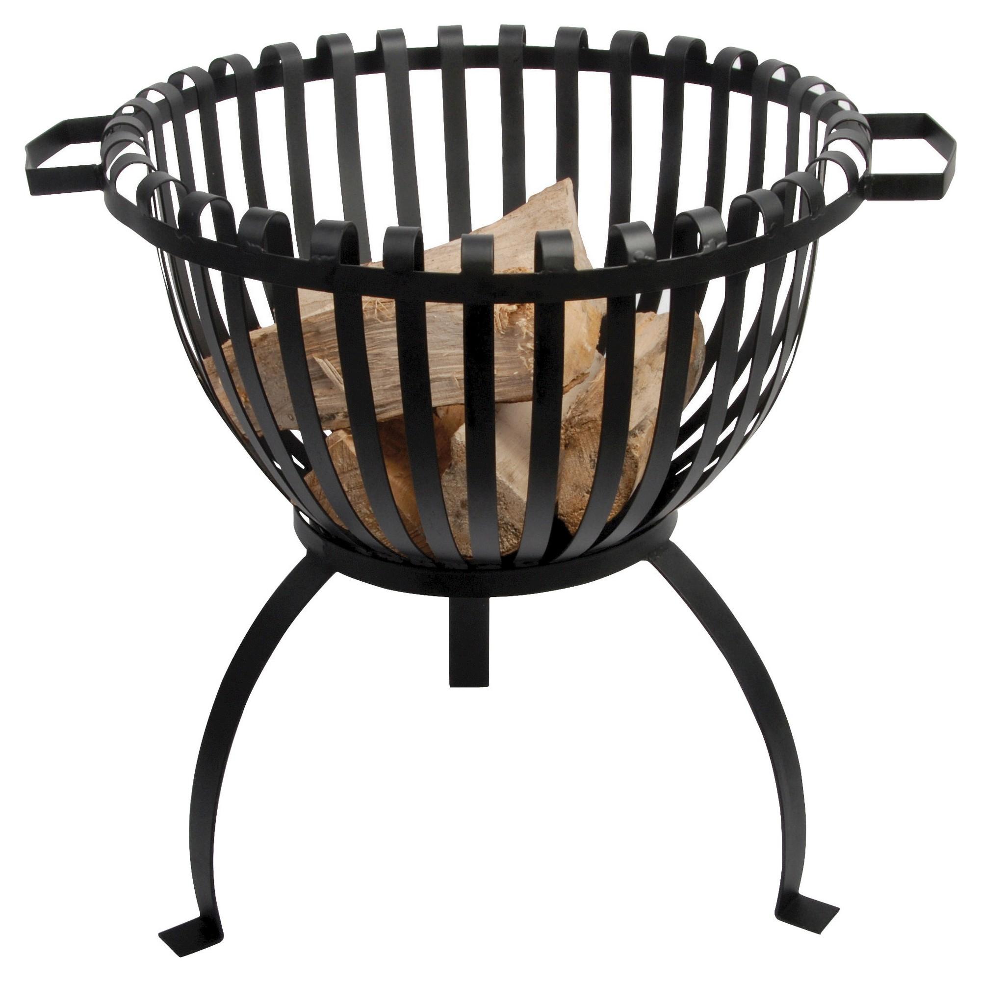 esschert design tulip design fire pit basket black products