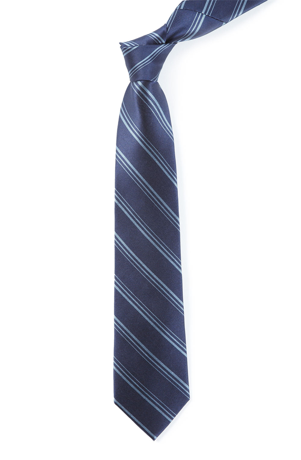 FRAMING STRIPE - NAVY | Ties, Bow Ties, and Pocket Squares | The Tie Bar