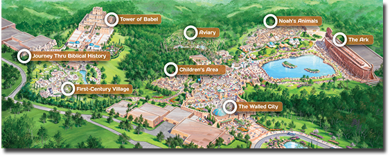 Map Of Future Attractions At The Ark Encounter Roadsite