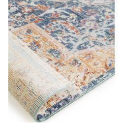 Benuta viscose carpet Yuma multicolor / blue 200x300 cm - vintage carpet in used look benuta#200x300 #benuta #blue #carpet #multicolor #vintage #viscose #yuma