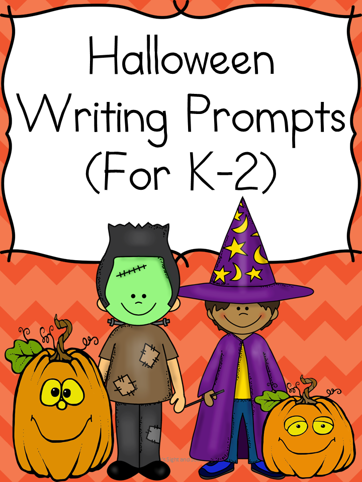Halloween Writing Prompts -For kindergarten/1st/ 2nd grade
