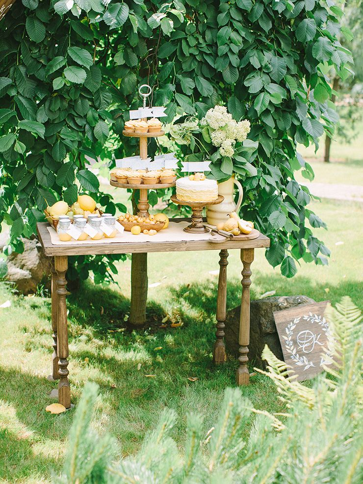 Pear Inspired Wedding Theme With Shades Of Blue Yellow Colour