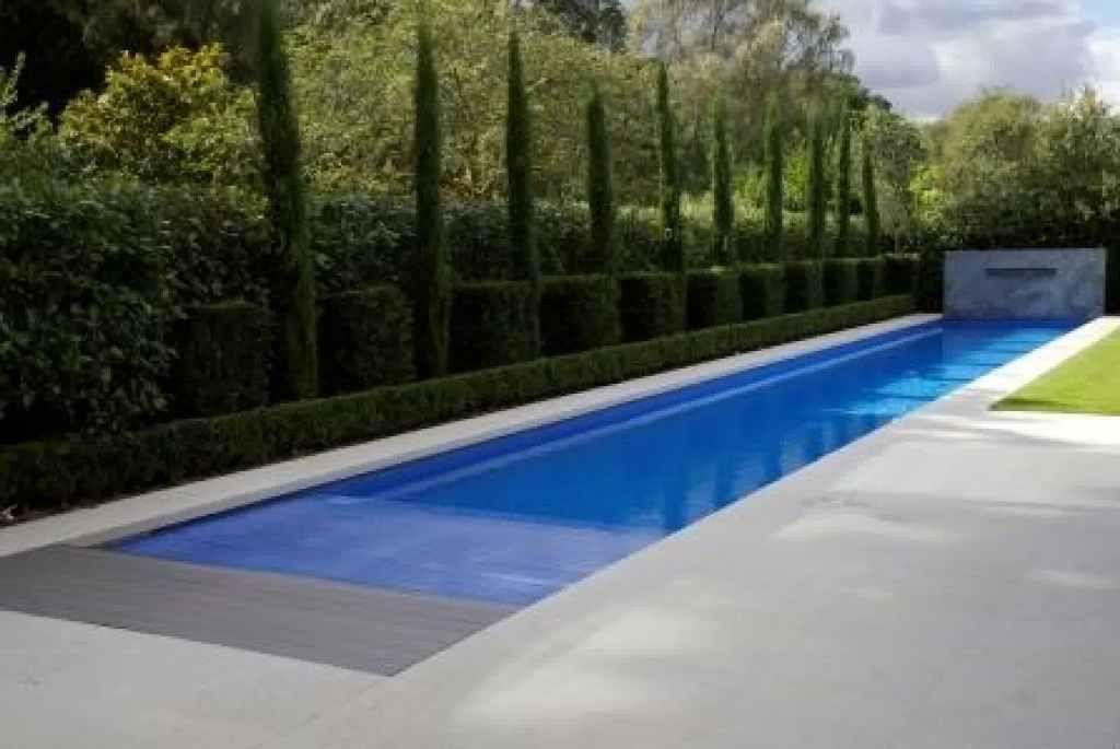 Exterior Stylish Lap Pools In House Fiberglass Lap Pools Above