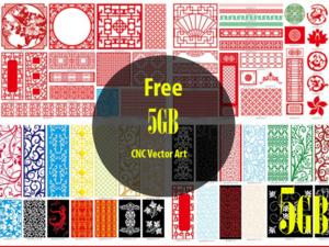 5GB CNC Vector DXF,CDR,Eps,Ai ,AC6,Plt ,jpd Art file ready to cut